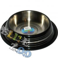 Metal bowl on rubber with stripes 1,2 L Yarro